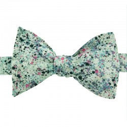 Green Graffiti Liberty Bow Tie