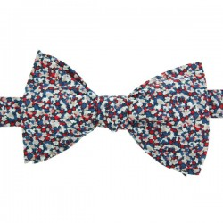 Red/Navy Blue Pepper Bow Tie
