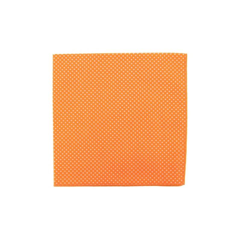 Mandarin with pin dots pocket square