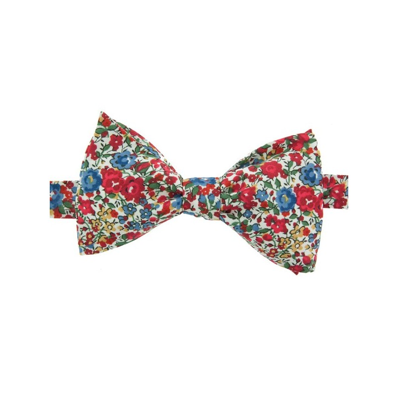 Noeud papillon liberty emma rouge le colonel moutarde - Noeud papillon rouge enfant ...