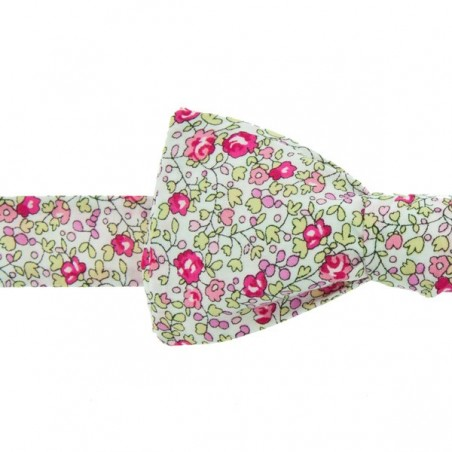Noeud Papillon Liberty Eloise Rose Fluo