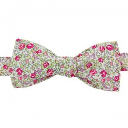 Noeud Papillon Liberty Eloise Rose Fluo
