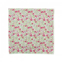 Neon pink Eloise Liberty pocket square