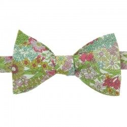 Green/Dusky Pink Margaret Liberty Bow Tie