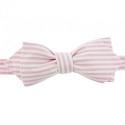 Light pink stripe bow tie