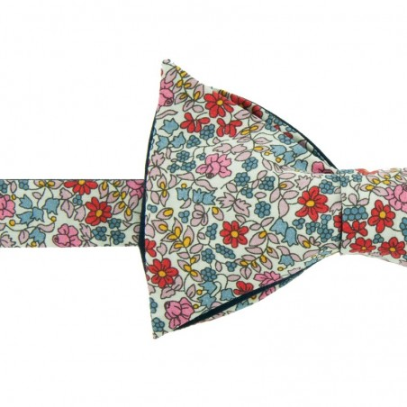 Noeud Papillon Liberty Emilia Flowers Rouge / rose