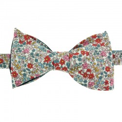 Red/Pink Emilia Flowers Liberty Bow Tie