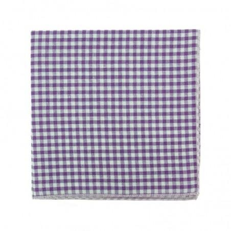 Purple Gingham Bow Tie