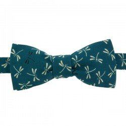 Peacock Blue Dragonfly Japanese Bow Tie