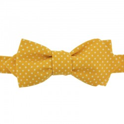 Gold Yellow with Pin Dots Bow Tie