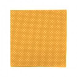 Gold yellow with polka dots pocket square