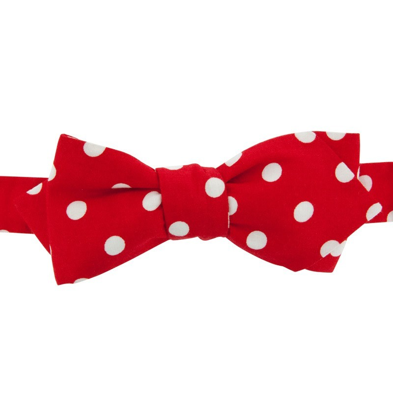 White Spots on Red Bow Tie