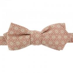 Dusky Pink Asanoha Japanese Bow Tie