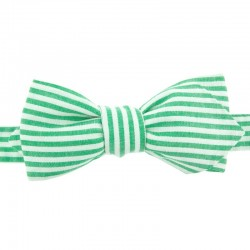 Eden Green Striped Bow Tie