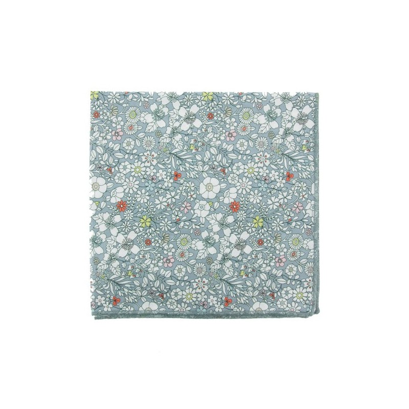 Light grey June Meadow Liberty pocket square