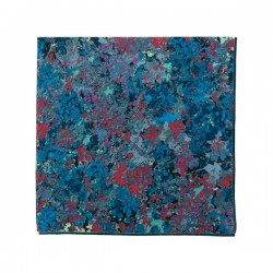 Pochette de costume Liberty Renoir Bleu