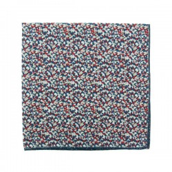 Navy Blue / red Pepper Liberty pocket square