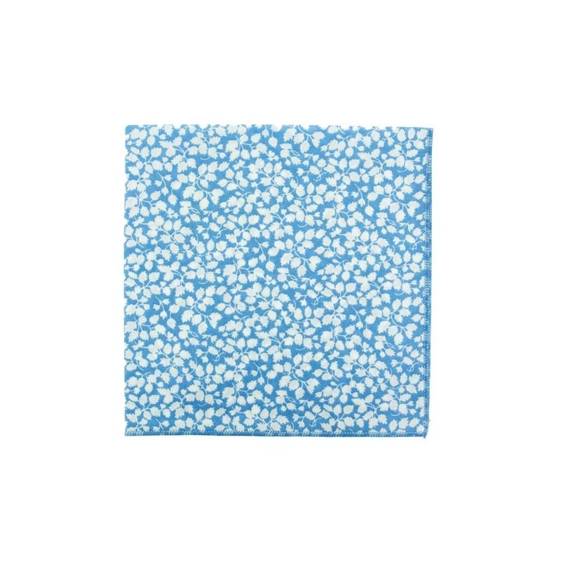 Light blue / white Glenjade Liberty pocket square