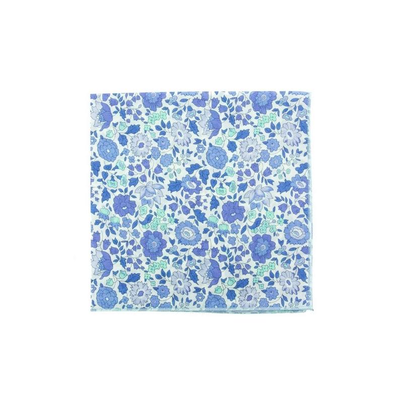 Light blue Danjo Liberty pocket square