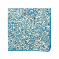 Light blue Charles Liberty pocket square