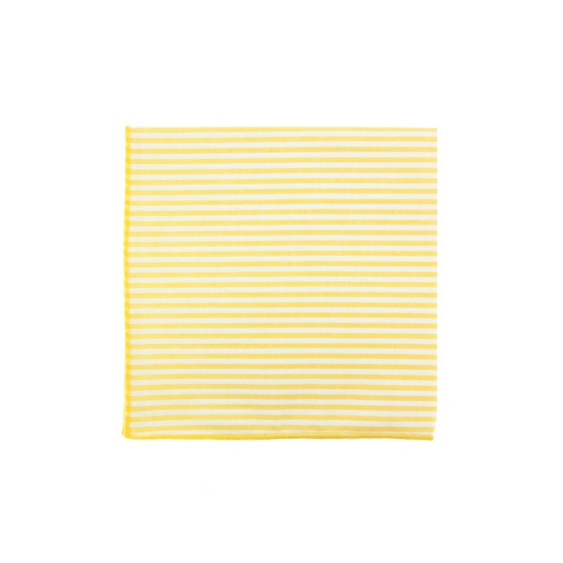 Light Yellow stripe pocket square