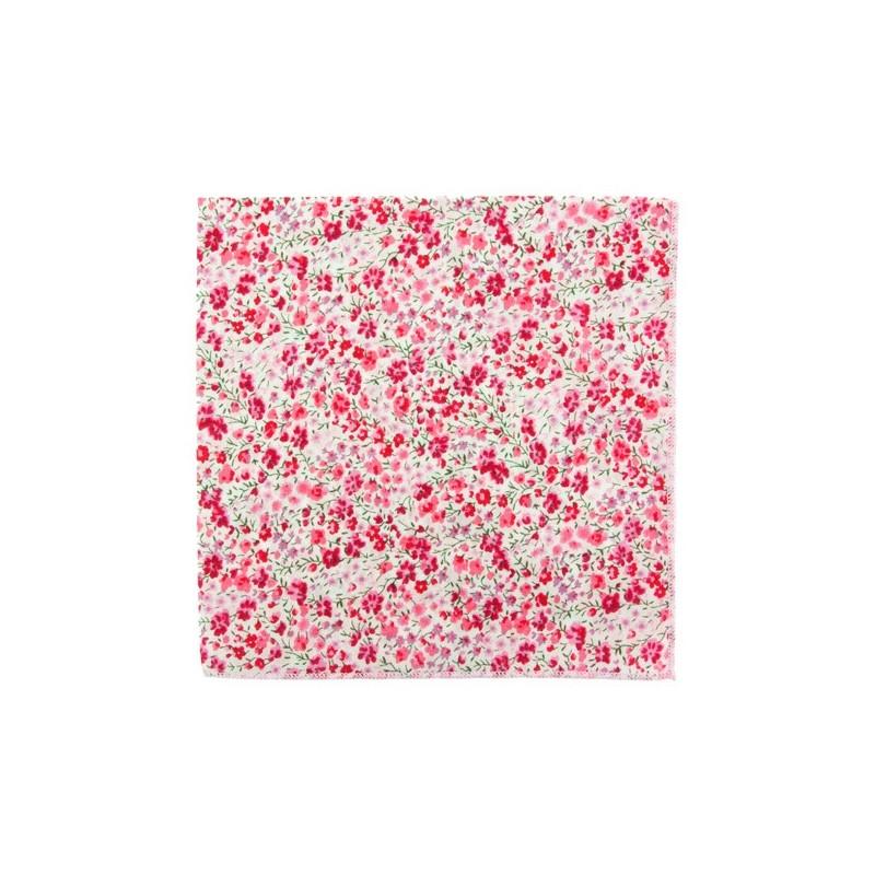Pink Phoebe Liberty pocket square