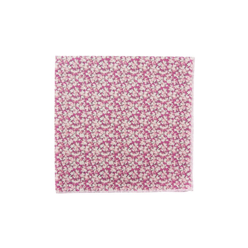Pink Pepper Liberty pocket square