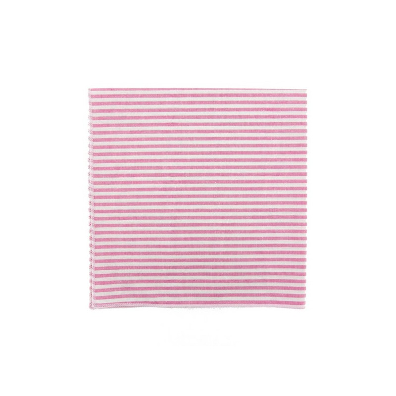 Fushia pink stripe pocket square