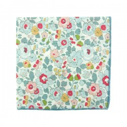 Porcelain Betsy Liberty pocket square