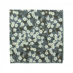 Grey Mitsi Liberty pocket square