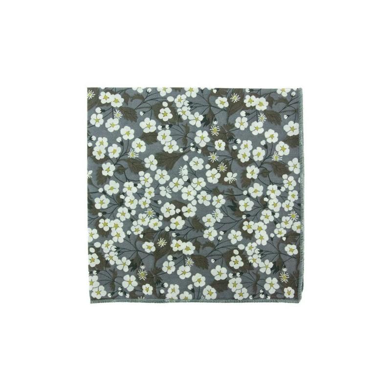 Grey Mitsi Liberty pocket square