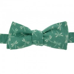 Sea-green Dragonfly Japanese Bow Tie