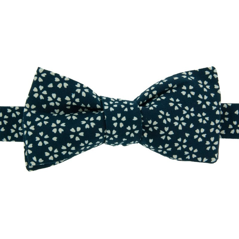 Dark blue Sagano Japanese Bow tie