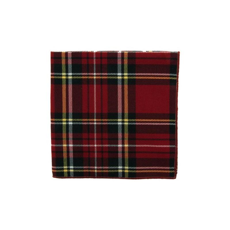 Pochette de costume Tartan Rouge