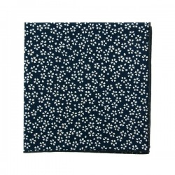 Navy blue Sagano Japanse pocket square