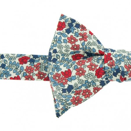 Red/blue Emilia Flowers Liberty Bow Tie