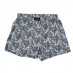 Navy Blue June Meadow Liberty boxer shorts