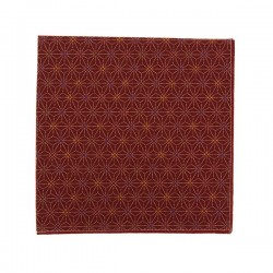 Burgundy multicouloured Asanoha Pocket square