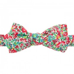Pink and green Emma Liberty Bow Tie