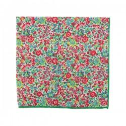 Pink and green Emma Liberty pocket square