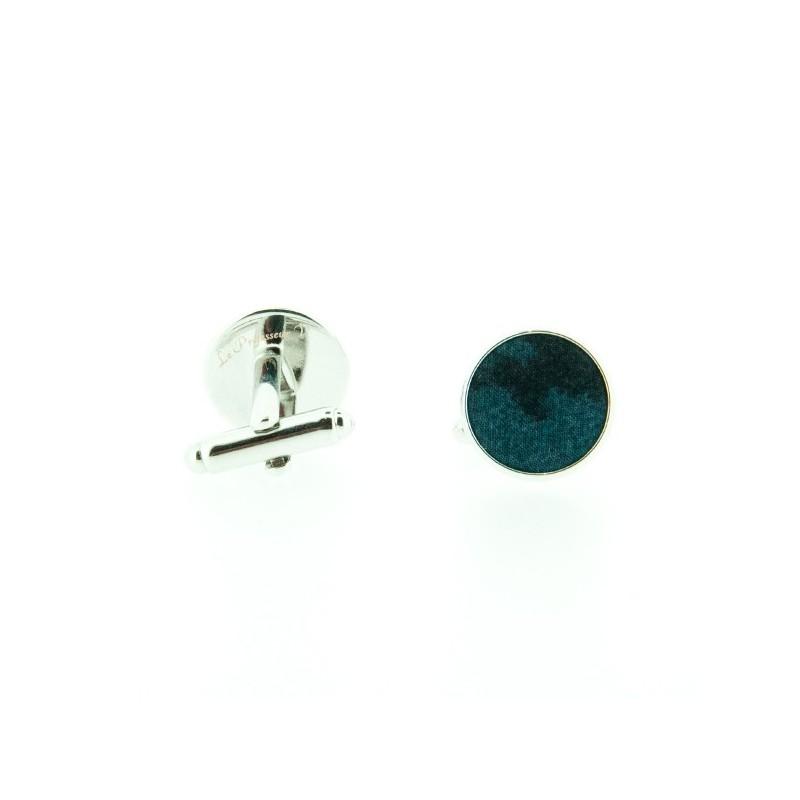Boutons de manchette Liberty Panthère Noir et bleu