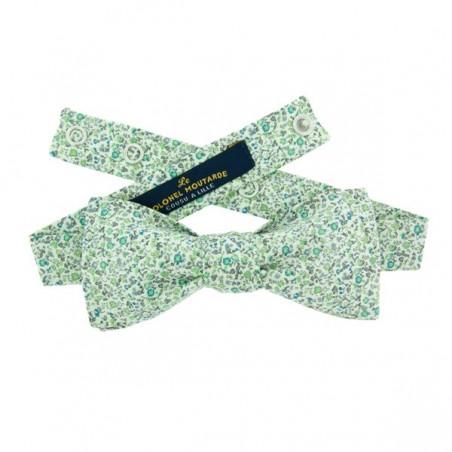 Noeud Papillon Vert ajustable motif Liberty Newland