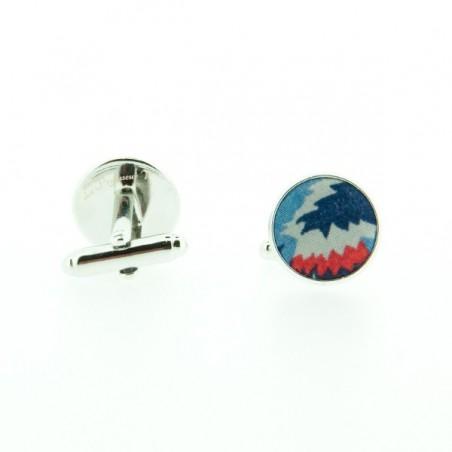 Noeud Papillon Liberty Tropico Bleu marine et rouge