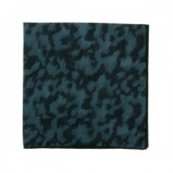 Black and blue Panther Liberty pocket square