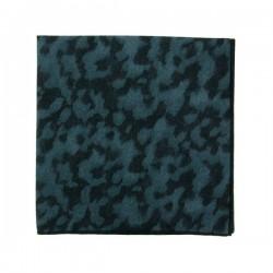 Pochette de costume Liberty Panthère Noir et bleu
