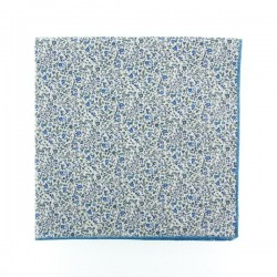Blue Newland Liberty pocket square