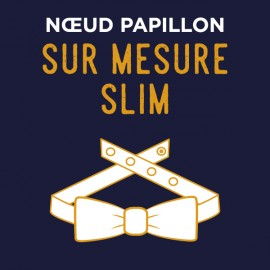 Noeud Papillon forme Slim SUR MESURE