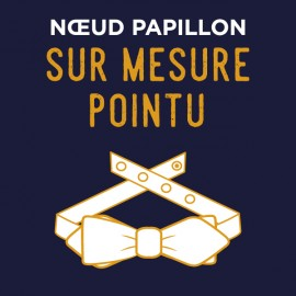 Noeud Papillon forme POINTU - SUR MESURE
