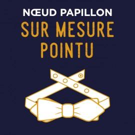 Noeud Papillon forme POINTU - SUR MESURE