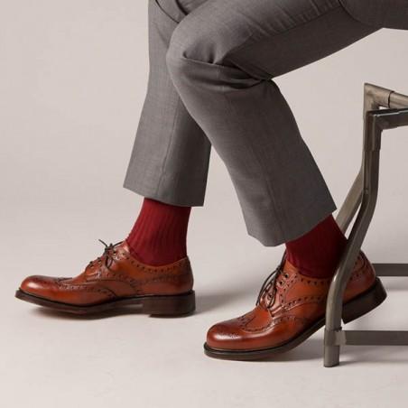 Burgundy Merino wool Socks